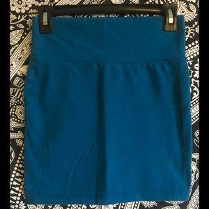 Cute Blue Bodycon High Waisted Skirt